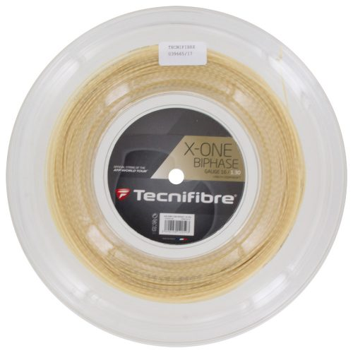 Reel - Tecnifibre X-One Biphase 16 1.30: Tecnifibre Tennis String Reels
