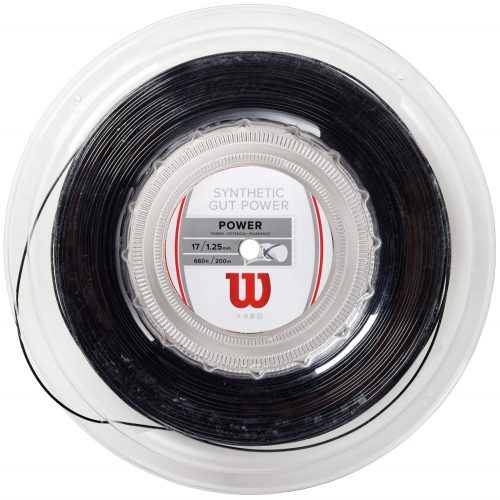 Reel - Wilson Synthetic Gut Power 17: Wilson Tennis String Reels
