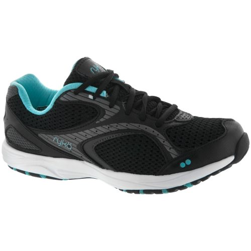 Ryka Dash 2: ryka Women's Walking Shoes Black/Metallic Iron Gray/Winter Blue/White