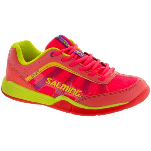 Salming Adder: Salming Women's Indoor, Squash, Racquetball Shoes Diva Pink/Safety Yellow