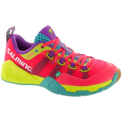 Salming Kobra: Salming Women's Indoor, Squash, Racquetball Shoes Diva Pink/Turquoise