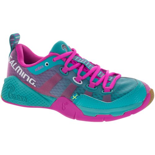 Salming Kobra: Salming Women's Indoor, Squash, Racquetball Shoes Turquoise/Pink