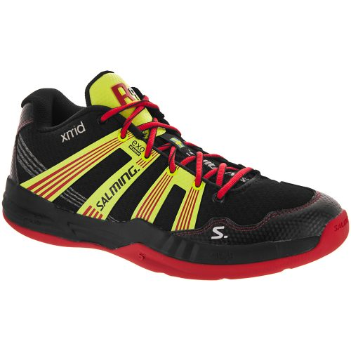 Salming Race R9 Mid 2.0: Salming Men's Indoor, Squash, Racquetball Shoes Black/Red