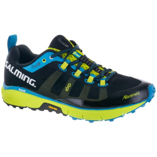 Salming Trail 5: Salming Men's Running Shoes Black/Flourescent Green