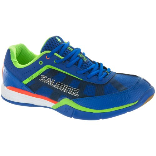 Salming Viper 3: Salming Men's Indoor, Squash, Racquetball Shoes Royal/Gecko Green