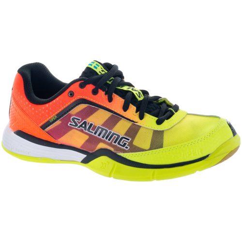 Salming Viper 4 Junior Yellow/Orange: Salming Junior Squash Shoes