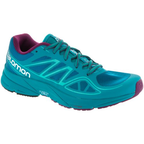 Salmon Sonic Aero: Salomon Women's Running Shoes Fog Blue/Teal Blue