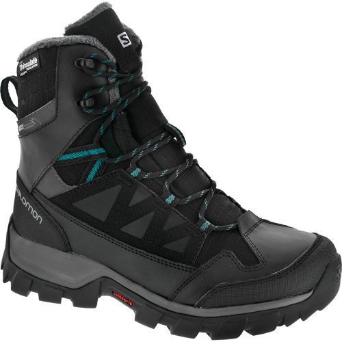 Salomon Chalten Waterproof: Salomon Women's Hiking Shoes Black/Autobahn
