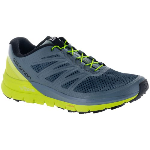 Salomon Sense Pro Max: Salomon Men's Running Shoes Stormy Weather/Acid Lime/Black