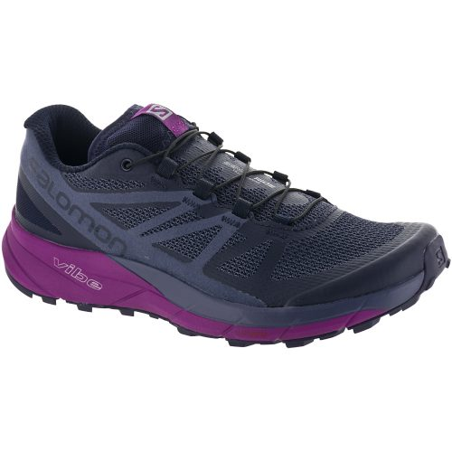 Salomon Sense Ride: Salomon Women's Running Shoes Evening Blue/Crown Blue/Grape Juice
