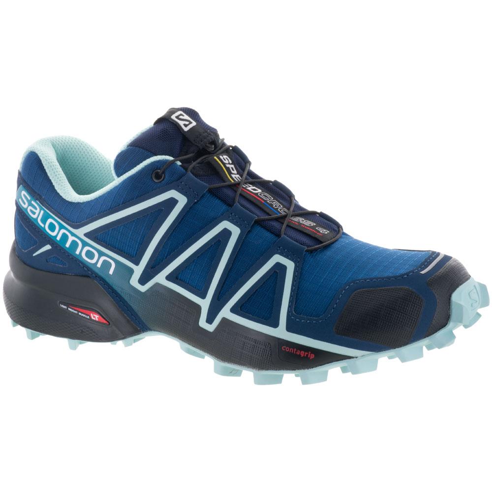 Salomon Speedcross 4: Salomon Women's Running Shoes Poseidon/Eggshell Blue/Black