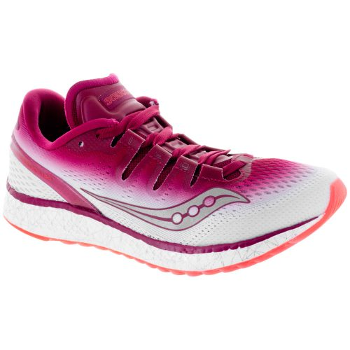 Saucony Freedom ISO: Saucony Women's Running Shoes Berry/White