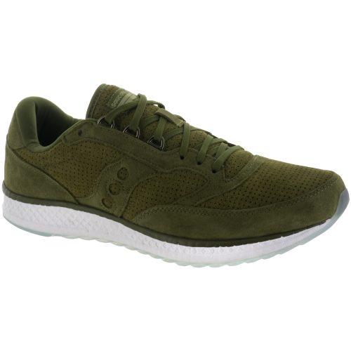 Saucony Freedom Runner Suede: Saucony Men's Running Shoes Green