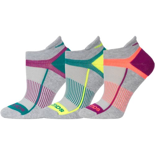 Saucony Inferno No Show Tab Socks 3 Pack: Saucony Socks