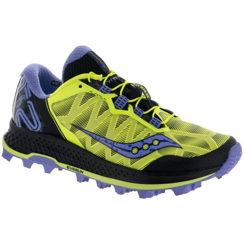 Saucony KOA ST: Saucony Women's Running Shoes Citron/Purple
