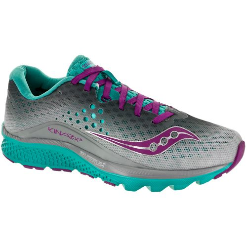 Saucony Kinvara 8: Saucony Women's Running Shoes Grey/Teal/Purple