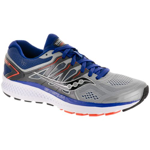 Saucony Omni 16: Saucony Men's Running Shoes Grey/Navy/Orange