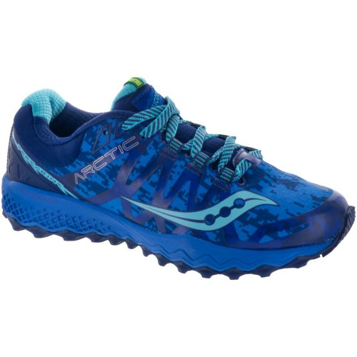 Saucony Peregrine 7 ICE+: Saucony Women's Running Shoes Blue