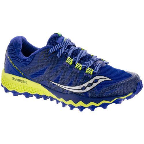 Saucony Peregrine 7: Saucony Women's Running Shoes Blue/Citron