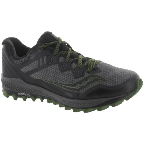 Saucony Peregrine 8: Saucony Men's Running Shoes Grey/Black/Green