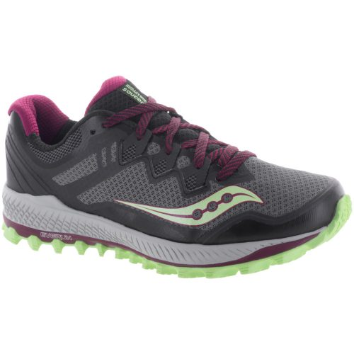 Saucony Peregrine 8: Saucony Women's Running Shoes Black/Mint/Berry