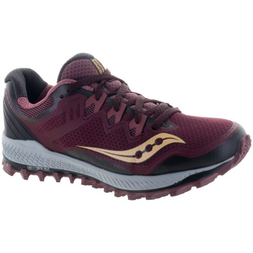 Saucony Peregrine 8: Saucony Women's Running Shoes Wine/Peach