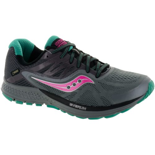 Saucony Ride 10 GTX: Saucony Women's Running Shoes Grey/Blue/Pink