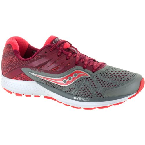 Saucony Ride 10: Saucony Women's Running Shoes Grey/Berry