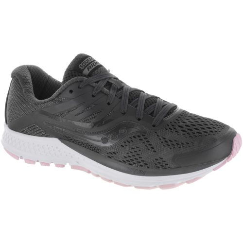 Saucony Ride 10: Saucony Women's Running Shoes Gunmetal/Pink