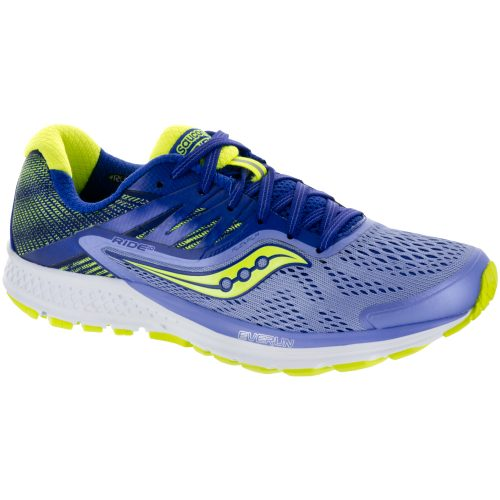 Saucony Ride 10: Saucony Women's Running Shoes Purple/Blue/Citron