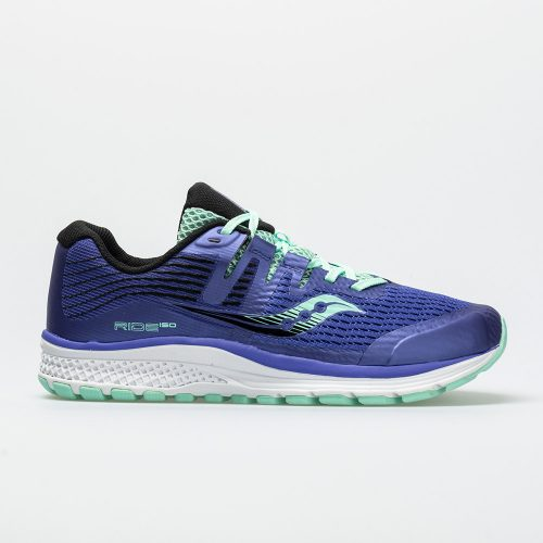 Saucony Ride ISO Junior Violet/Black/Aqua: Saucony Junior Running Shoes