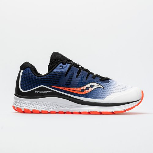 Saucony Ride ISO Junior White/Blue/ViZi Red: Saucony Junior Running Shoes