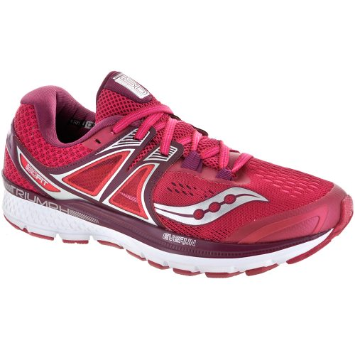 Saucony Triumph ISO 3: Saucony Women's Running Shoes Pink/Berry/Silver