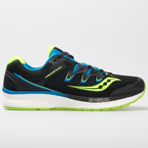 Saucony Triumph ISO 4: Saucony Men's Running Shoes Black/Slime/Blue