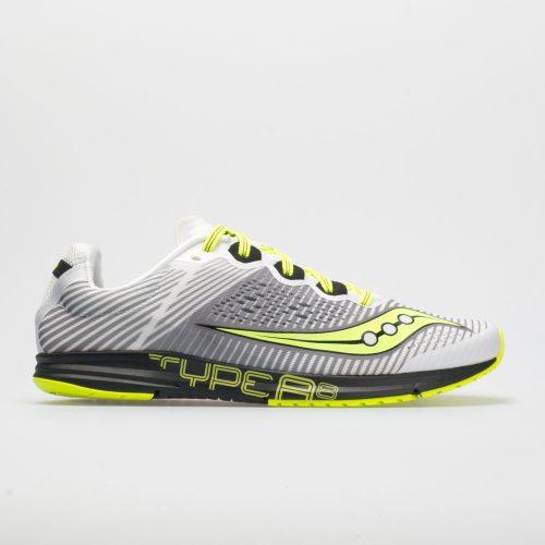Saucony Type A 8: Saucony Men's Running Shoes White/Black/Citron