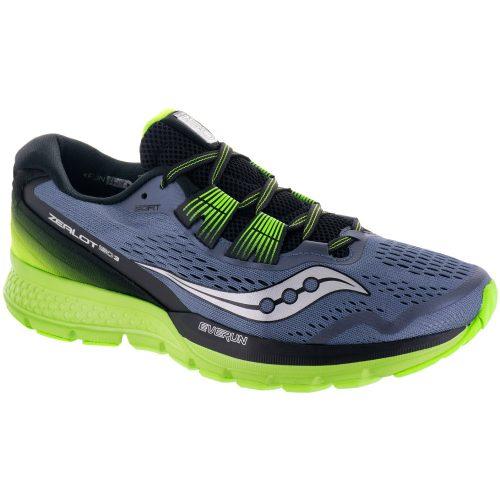Saucony Zealot ISO 3: Saucony Men's Running Shoes Grey/Black/Slime