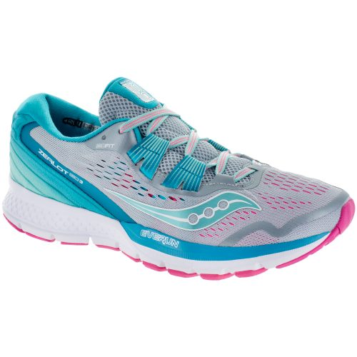 Saucony Zealot ISO 3: Saucony Women's Running Shoes Grey/Blue/Pink