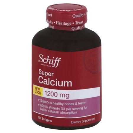 Schiff Super Calcium 1200 with Vitamin D, Softgels - 120 ea