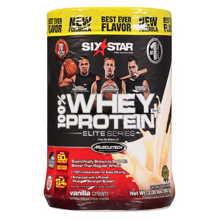 Six Star Elite Series Whey Protein+ Dietary Supplement Powder Vanilla Cream - 2 lb