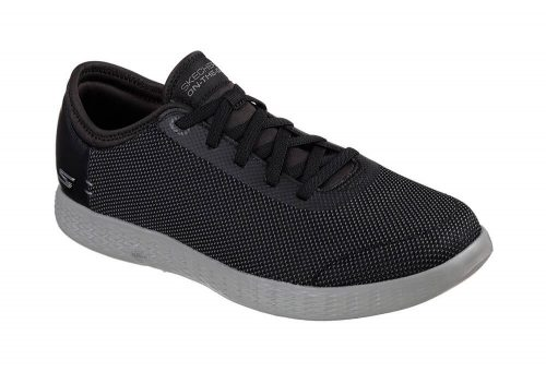 Skechers 2 Tone Mesh Shoes - Men's - black/grey, 12.5