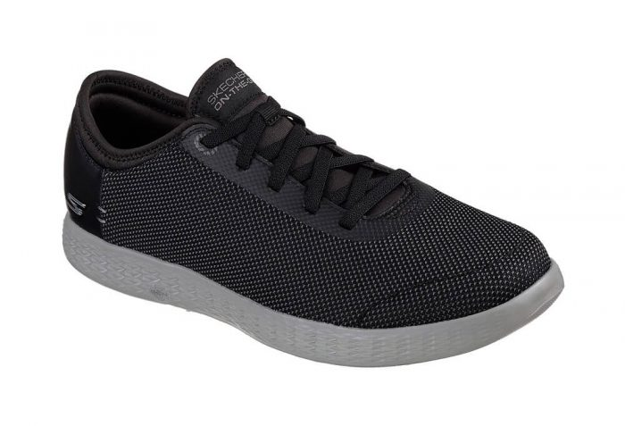 Skechers 2 Tone Mesh Shoes - Men's - black/grey, 8.5