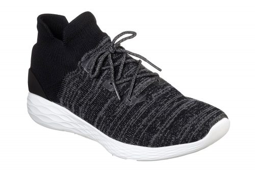 Skechers Go Strike Knit Shoes - Men's - black/white, 8.5