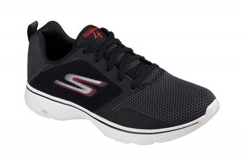 Skechers Go Walk 4 Shoes - Men's - black/red, 10.5