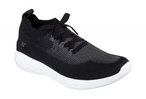 Skechers Knitted Slip Ons - Men's - black/white, 13
