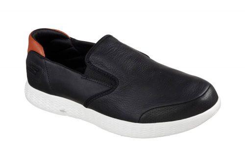 Skechers Leather Slip Ons - Men's - black, 12.5