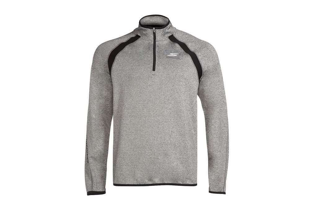 Skechers Windchill 1/4 Zip Sweatshirt - Men's - grey, x-large