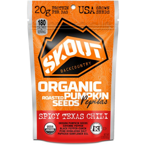 Skout Backcountry Organic Pumpkin Seeds (Box of 6): Skout Backcountry Nutrition
