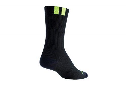 "Sock Guy SGX 6"" Train Socks - black/green, s/m"