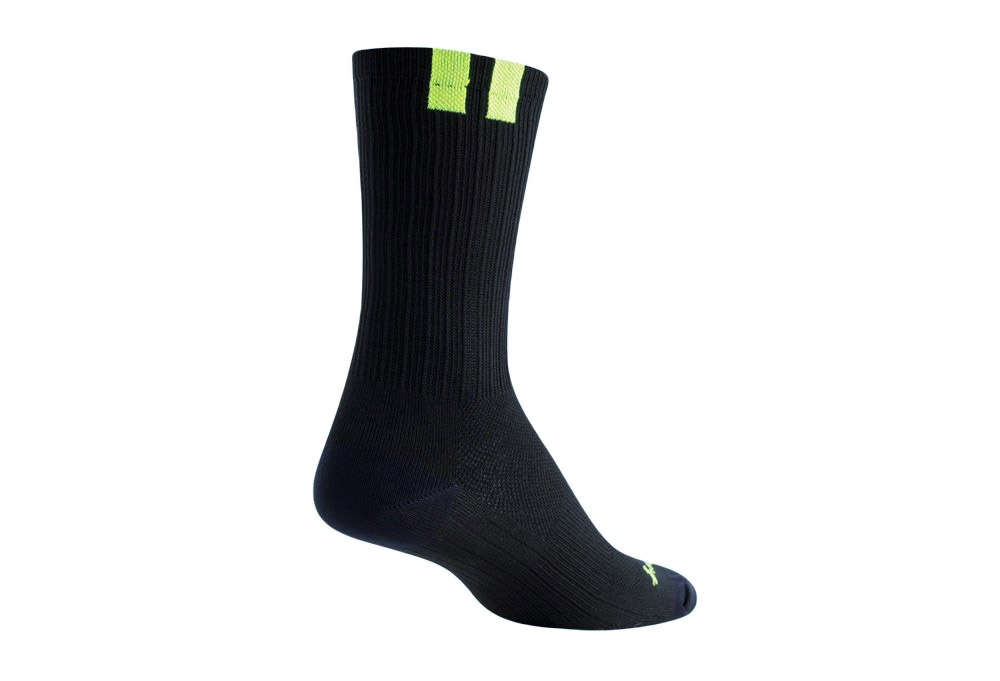 "Sock Guy SGX 6"" Train Socks - black/green, s/m"