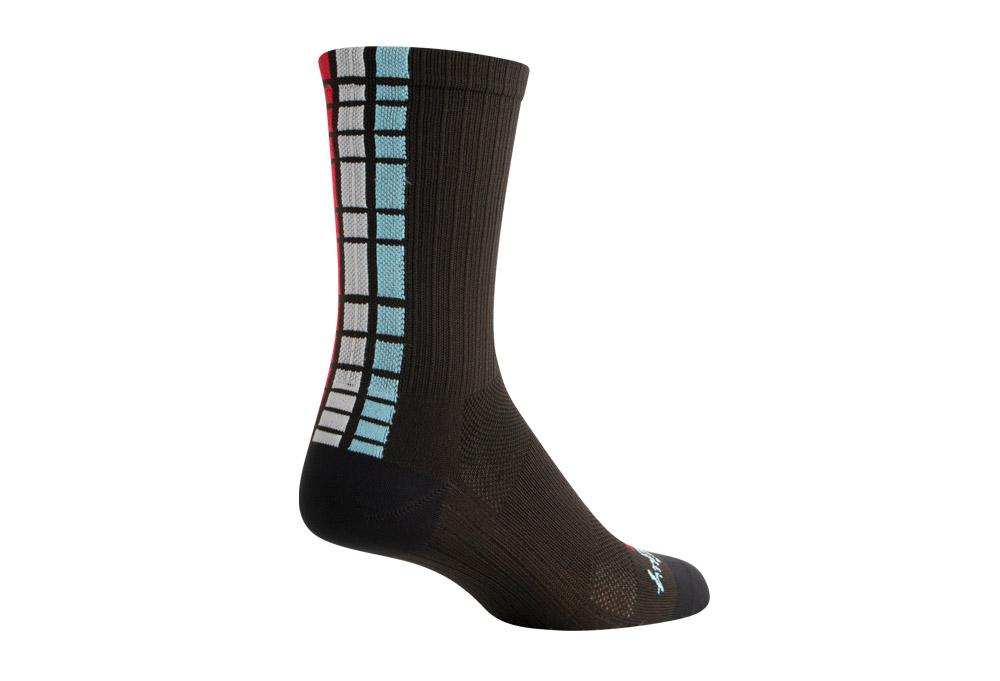 """Sock Guy SGX 6"""" Unity Socks - black/red/white/blue, s/m"""